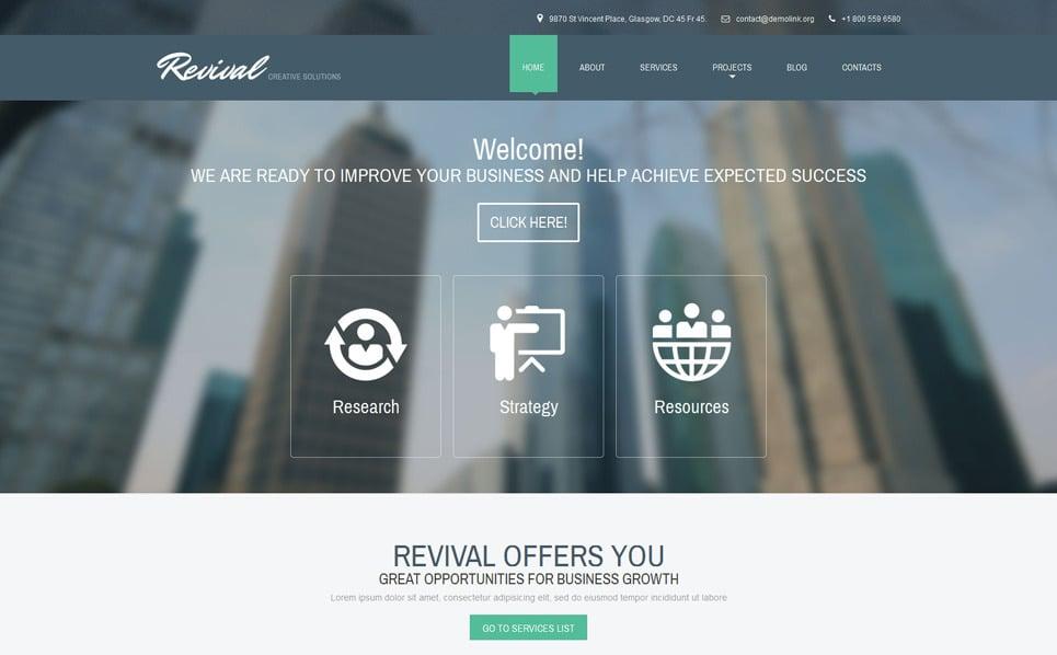Responsive İş ve Hizmetler Drupal Şablonu New Screenshots BIG