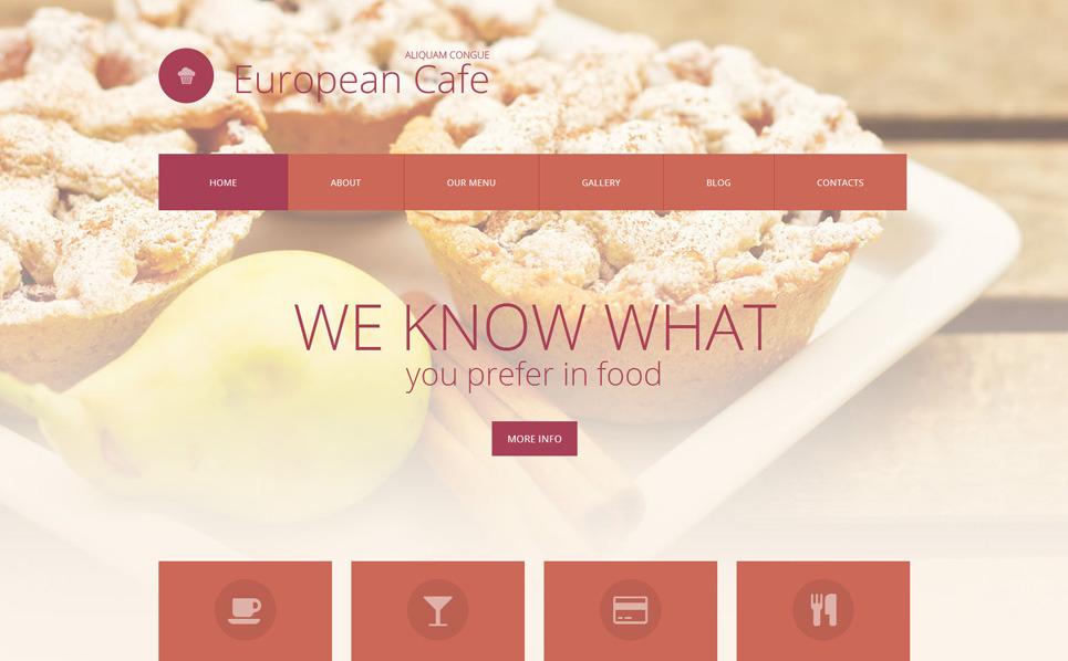 Адаптивний WordPress шаблон на тему европейський ресторан New Screenshots BIG