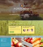 Agriculture Website  Template 52074