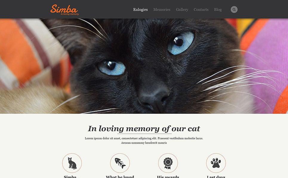 Reszponzív Macskák Weboldal sablon New Screenshots BIG