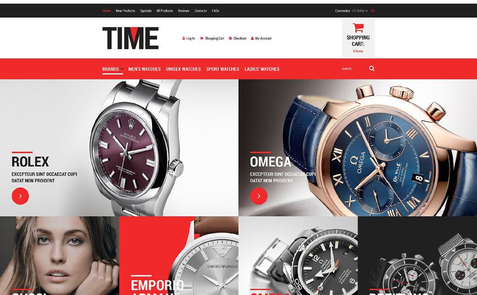 Szablon ZenCart Sklep zegarków luksusowych #52081 New Screenshots BIG