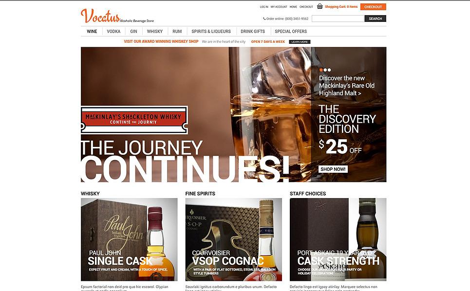 """""""Alcool de qualité"""" thème Zen Cart  New Screenshots BIG"""
