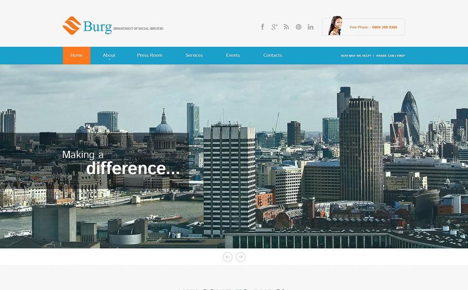 Responsive İş ve Hizmetler Wordpress Teması New Screenshots BIG