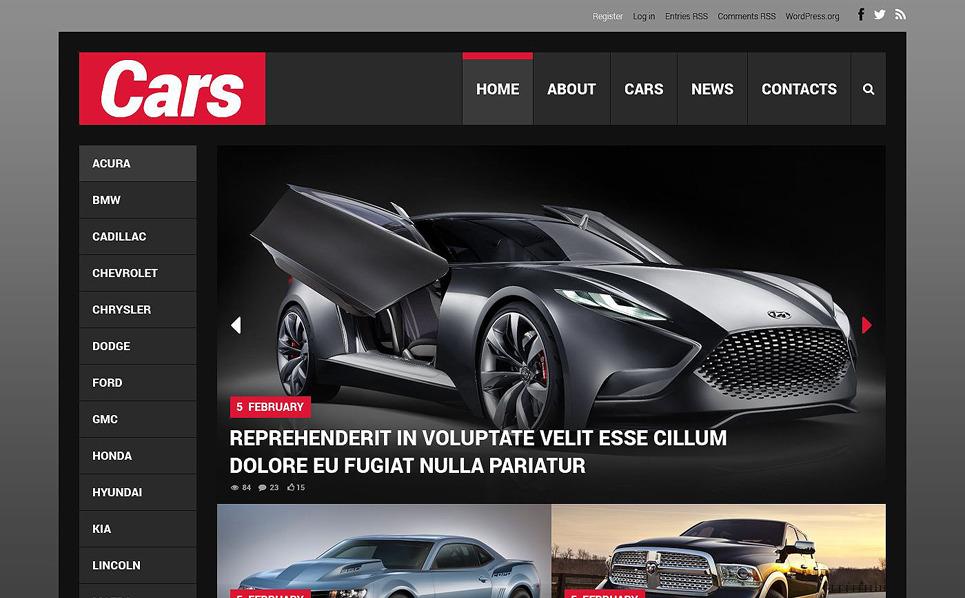 Responzivní WordPress motiv na téma Auta New Screenshots BIG