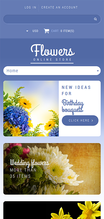 ADOBE Photoshop Template 52090 Home Page Screenshot