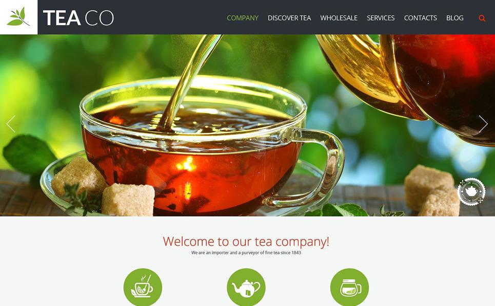 Reszponzív Teabolok Weboldal sablon New Screenshots BIG