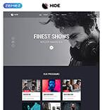 Entertainment Website  Template 52094
