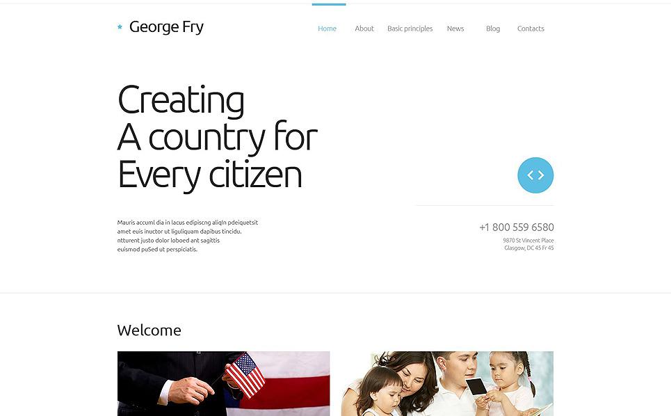 Адаптивний Шаблон сайту на тему політичний кандидат New Screenshots BIG