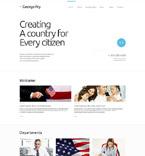 Politics Website  Template 52095