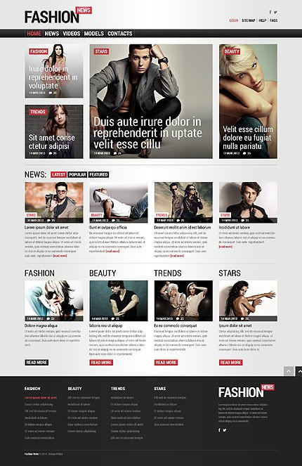 Joomla Theme/Template 52097 Main Page Screenshot