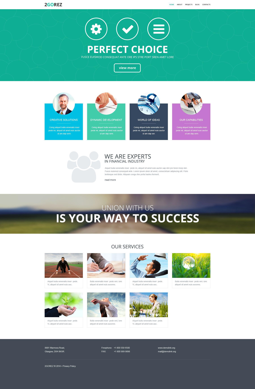 Адаптивний WordPress шаблон на тему фінансова консультація №52036