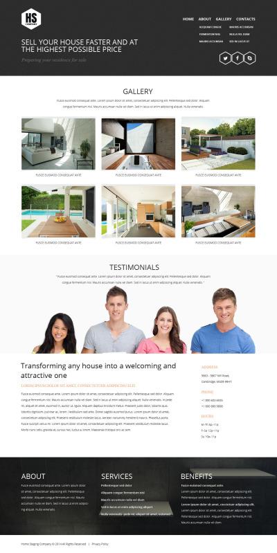 Адаптивный HTML шаблон №52078 на тему подготовка недвижимости к продаже
