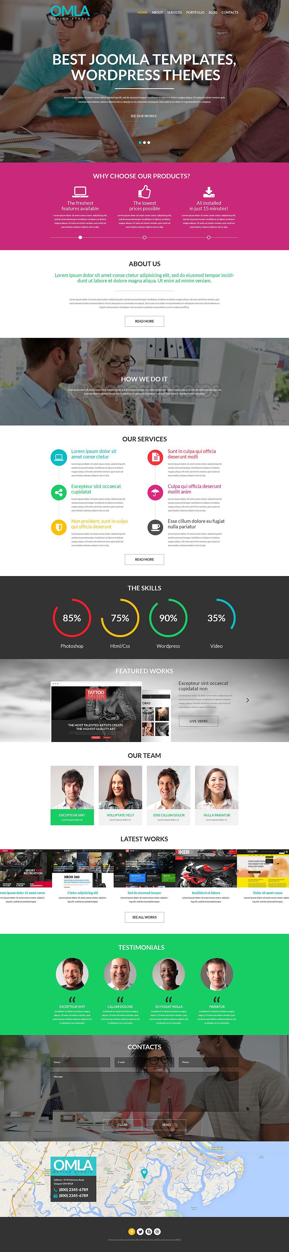 Адаптивный шаблон сайта на тему дизайн студия #52037