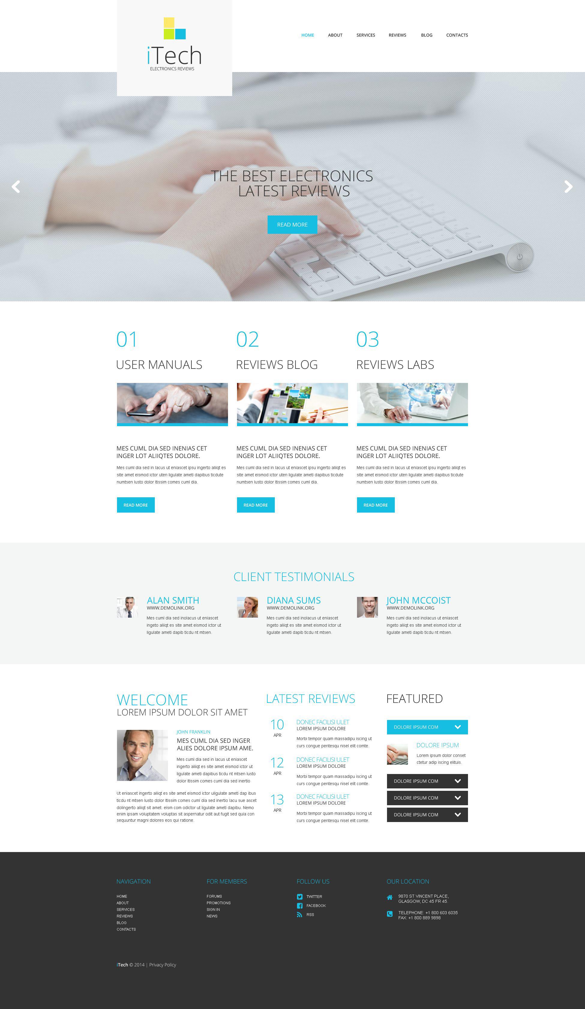 Адаптивный WordPress шаблон №52051 на тему информационные технологии - скриншот