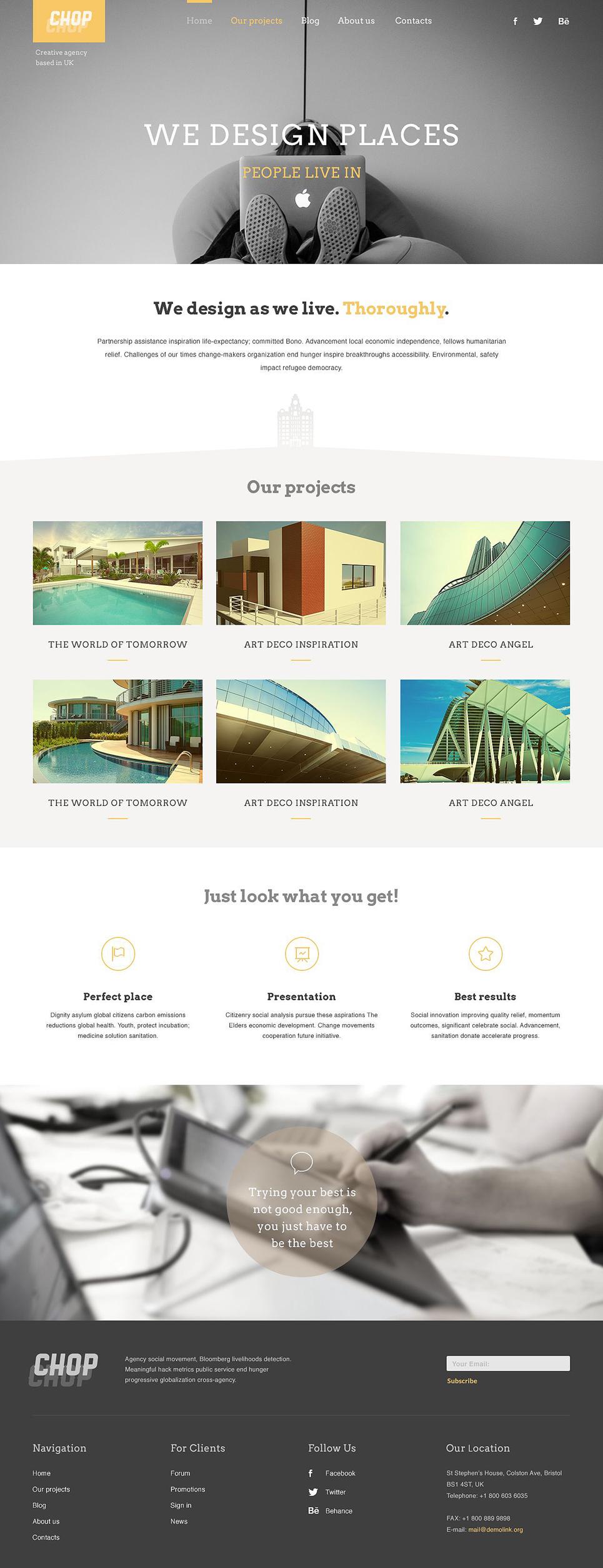 Адаптивный шаблон сайта на тему архитектура #52089