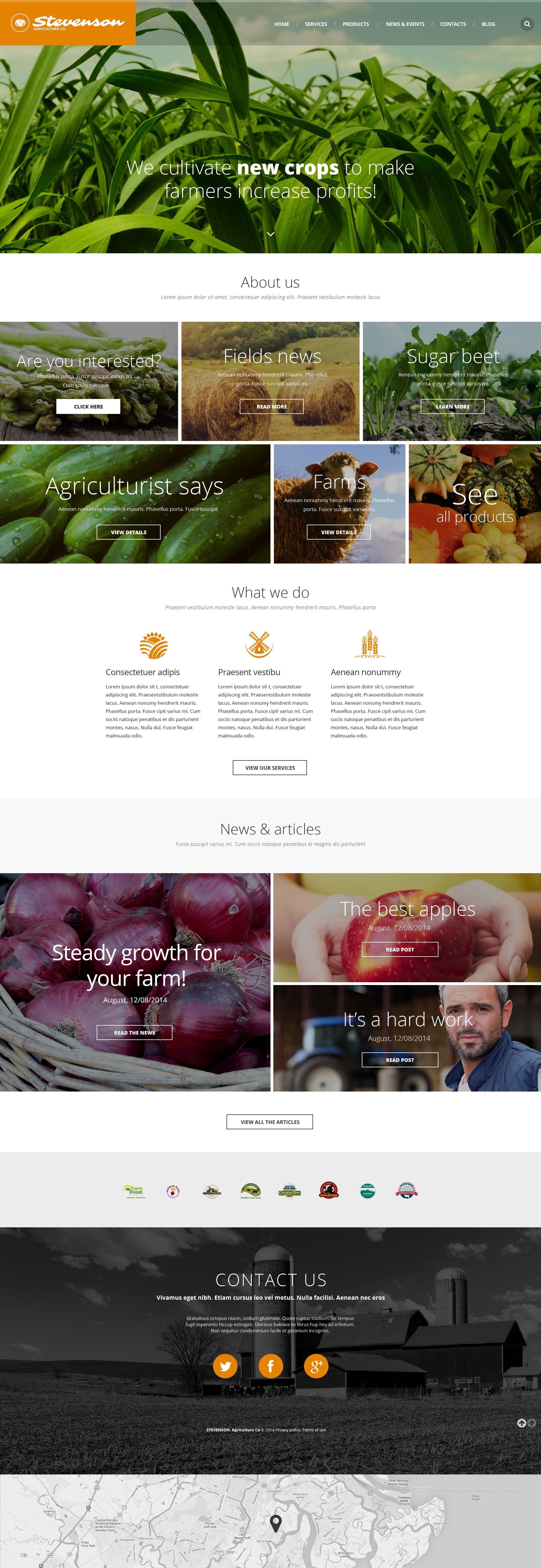 Agriculture Responsive Website Template - screenshot