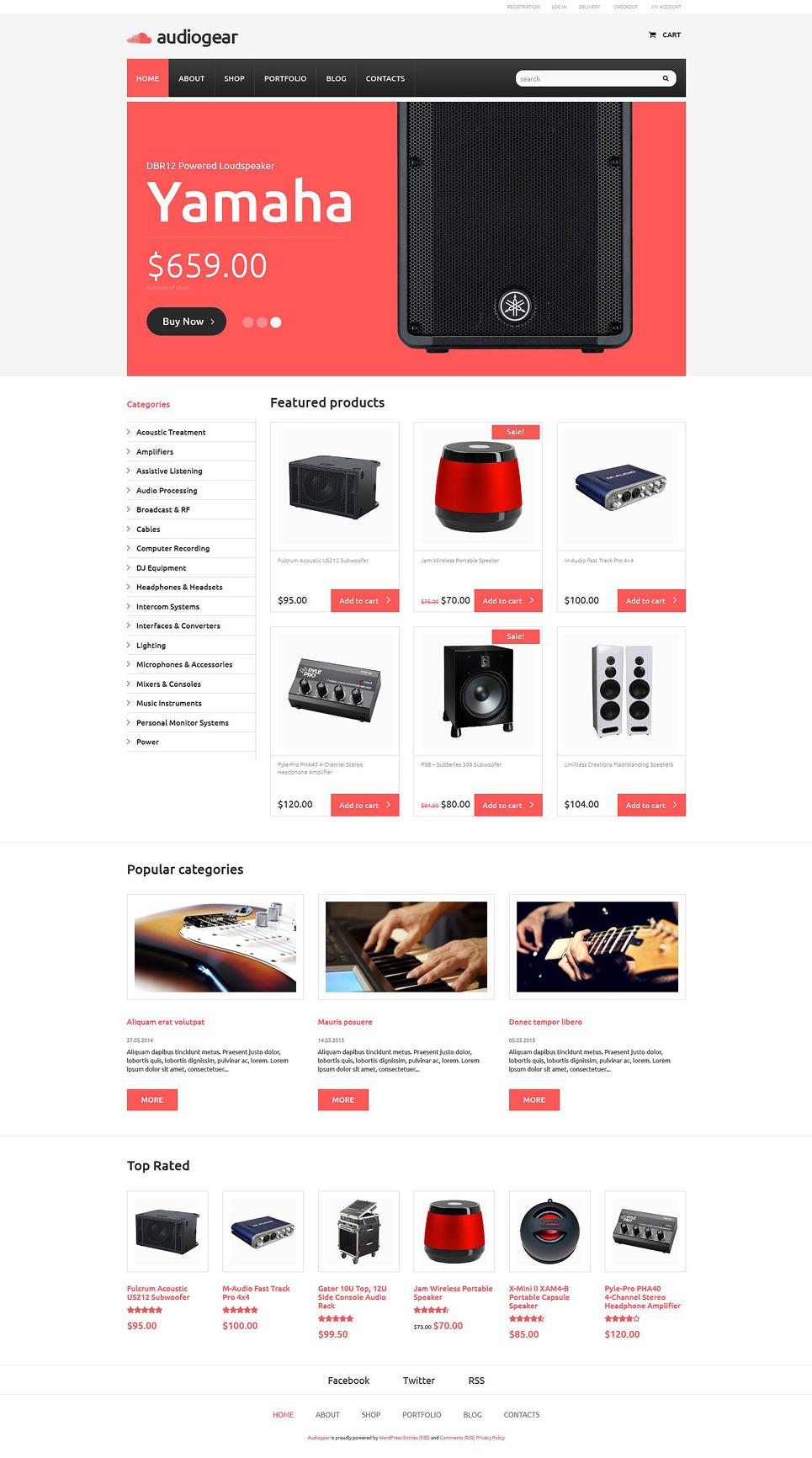 Audiogear Shop WooCommerce Theme New Screenshots BIG
