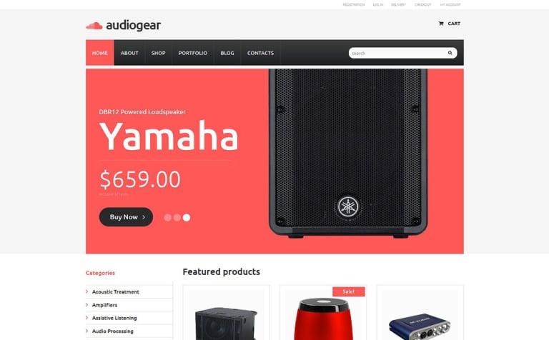 Audiogear Shop WooCommerce Theme
