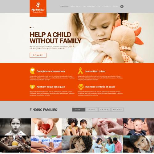 Roberta Orphan Store - Responsive Website Template