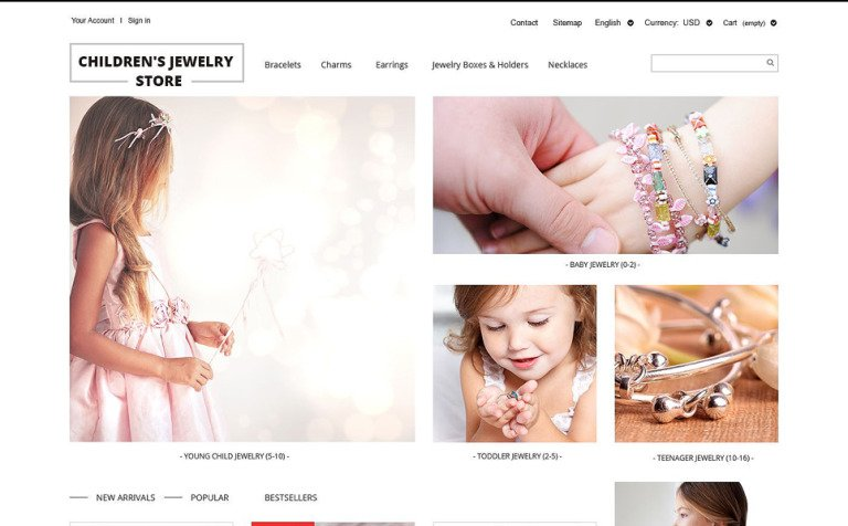 Children's Jewelry Store PrestaShop Theme
