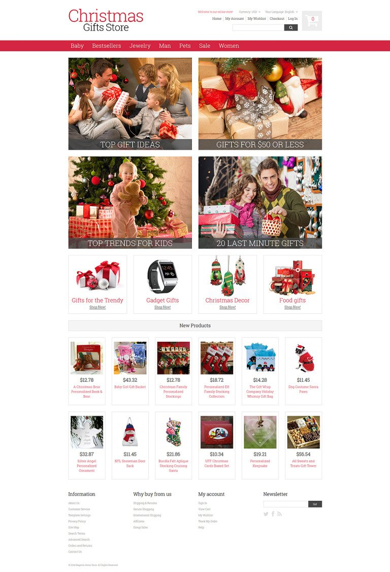 Christmas Gifts Magento Theme New Screenshots BIG