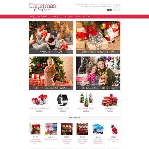 Christmas Gifts Store - Responsive Magento Template