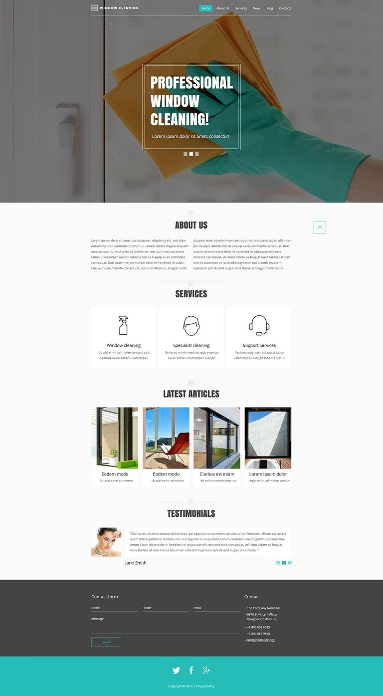 Cleaning Responsive Website Template New Screenshots BIG