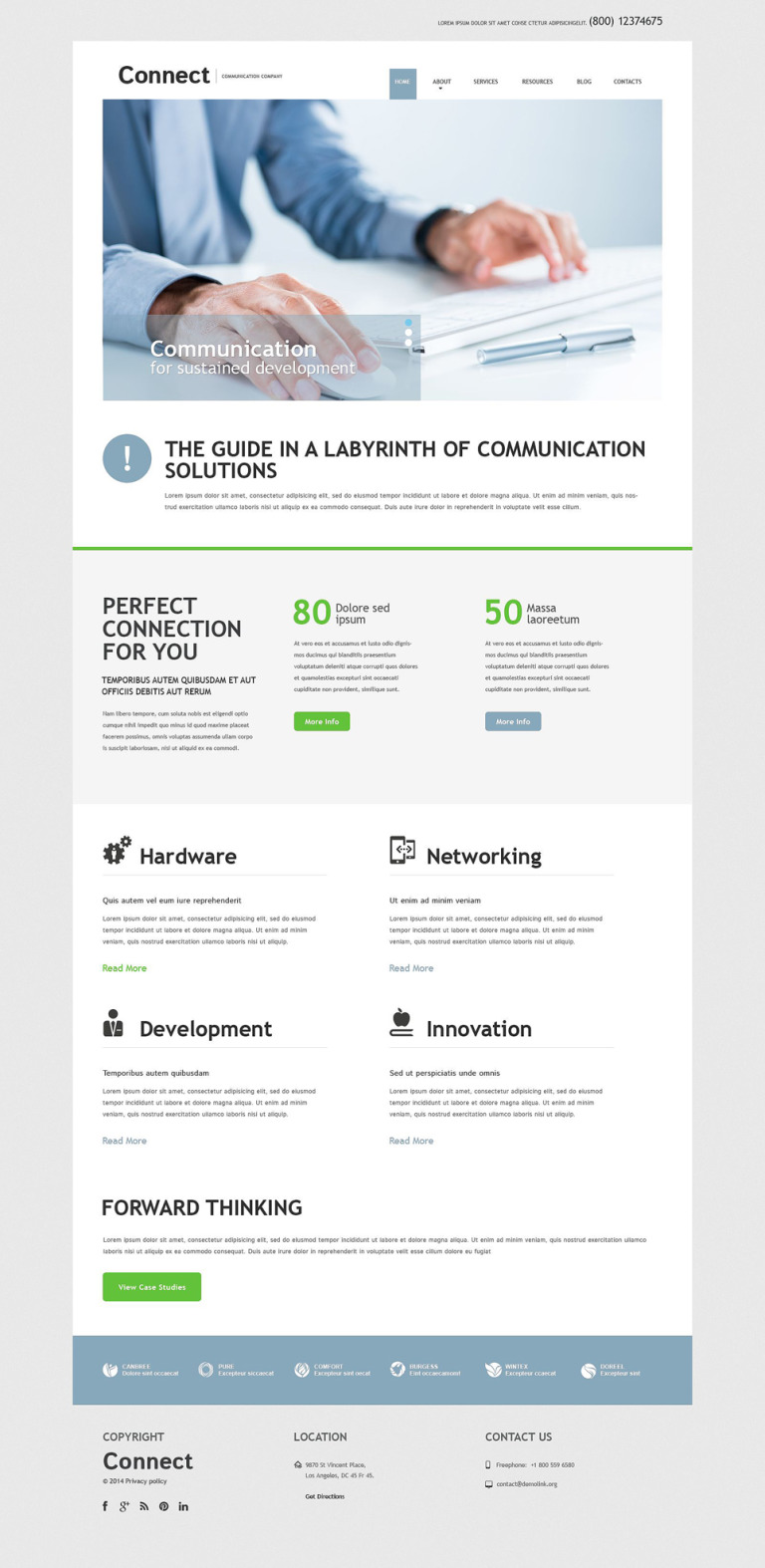 Communication Services Joomla Template New Screenshots BIG