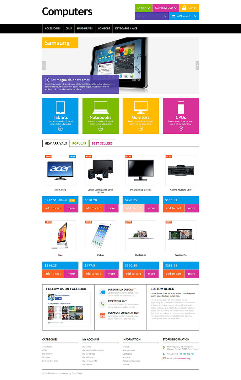 Computers PrestaShop Theme New Screenshots BIG