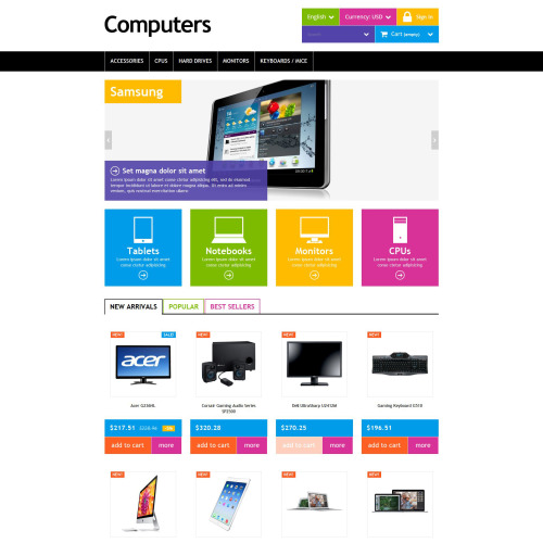 Computers - PrestaShop Template based on Bootstrap