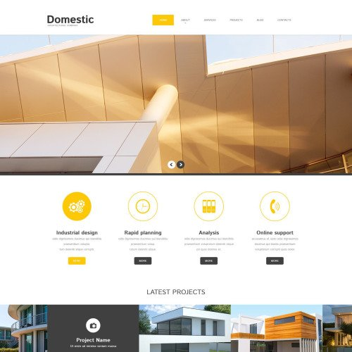 Domestic - WordPress Template based on Bootstrap