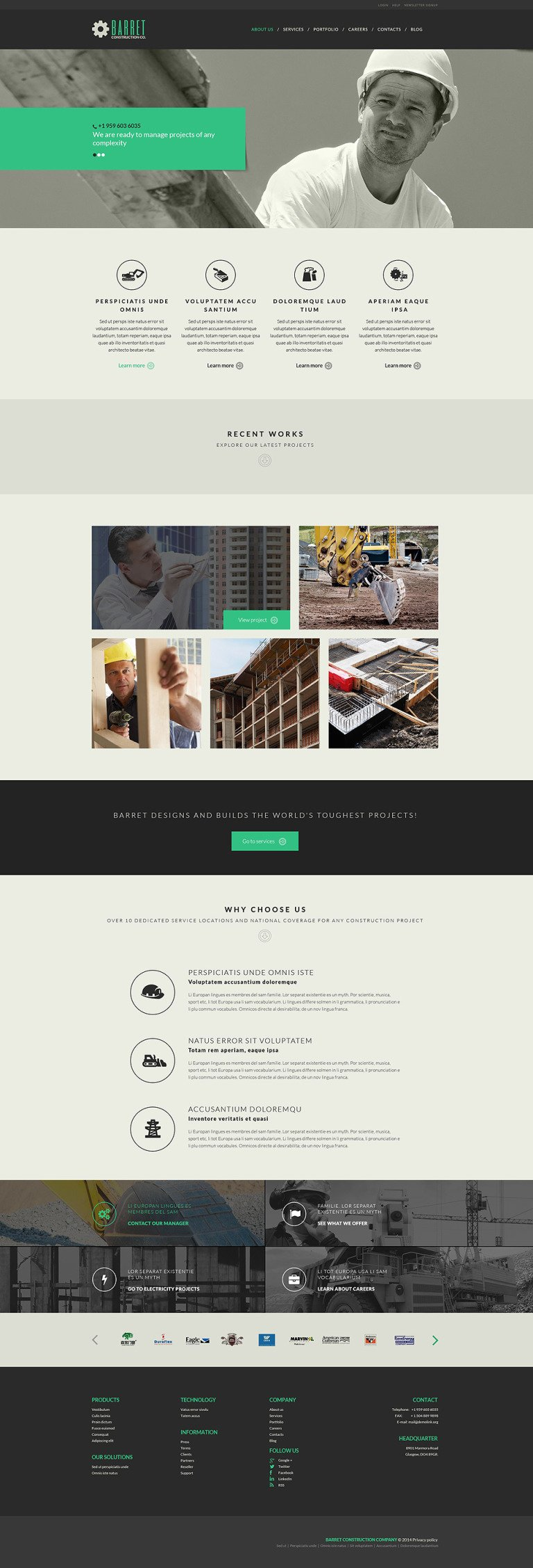 Construction Company WordPress Theme New Screenshots BIG