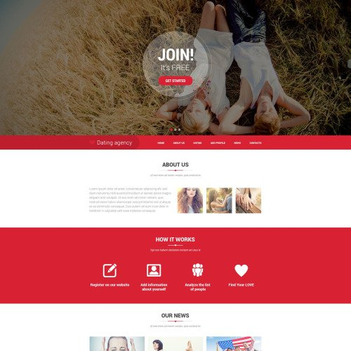 Dating Agency - Responsive Website Template