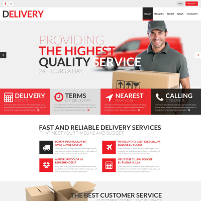 17 best delivery services website templates templatemonster