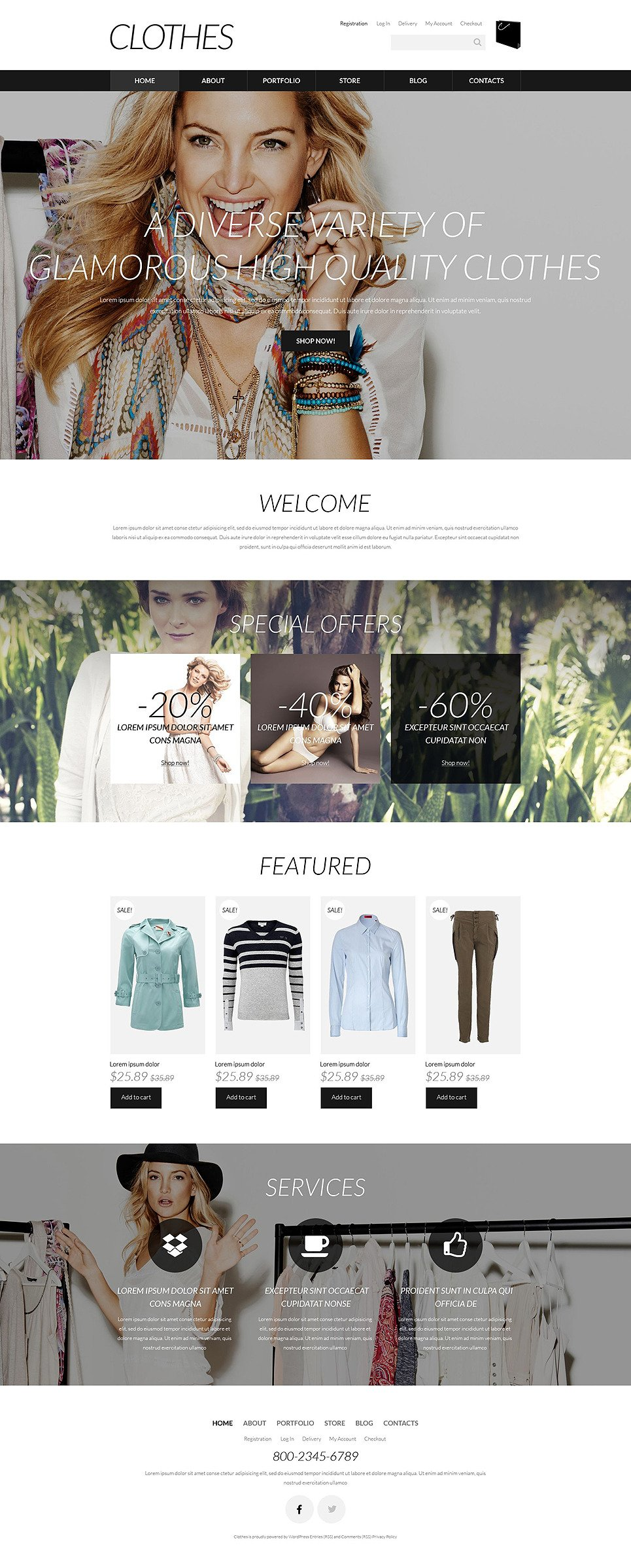 Designer Clothes WooCommerce Theme New Screenshots BIG