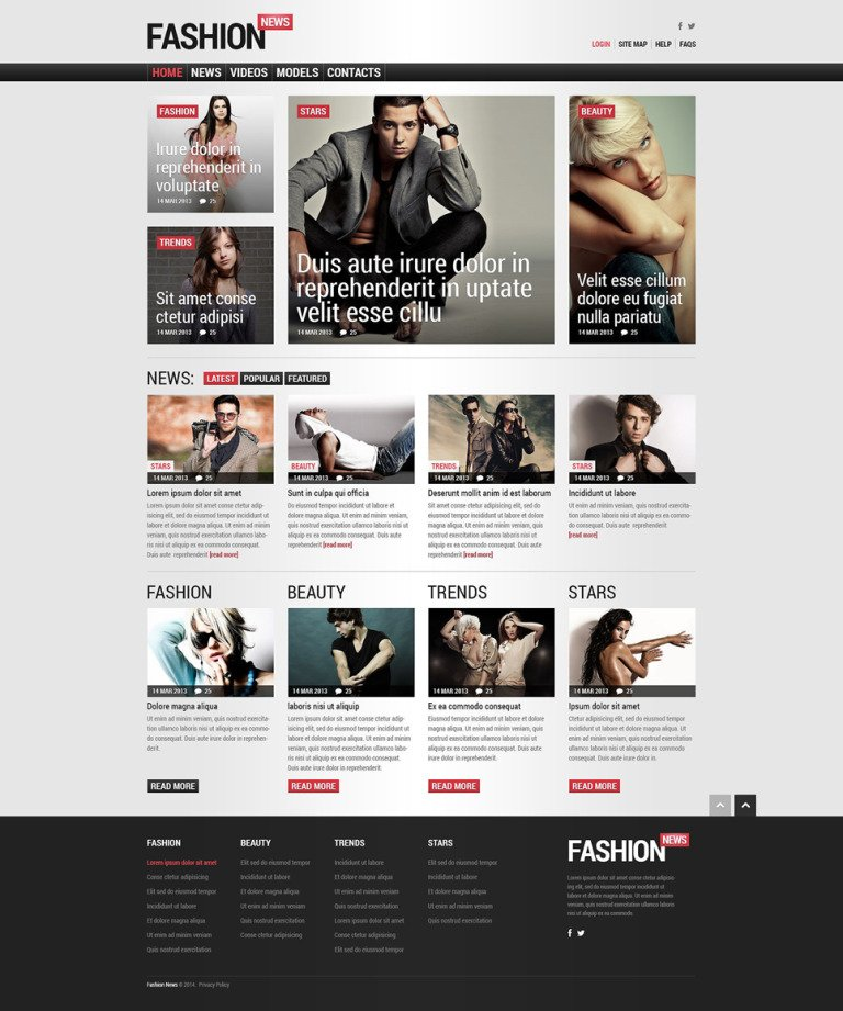 Fashion Responsive Joomla Template New Screenshots BIG