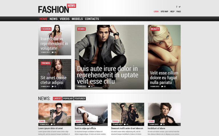 Fashion Responsive Joomla Template