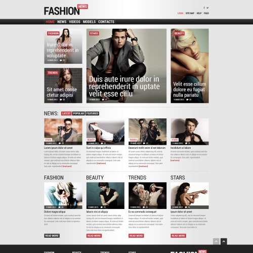 Fashion News - Joomla! Template based on Bootstrap