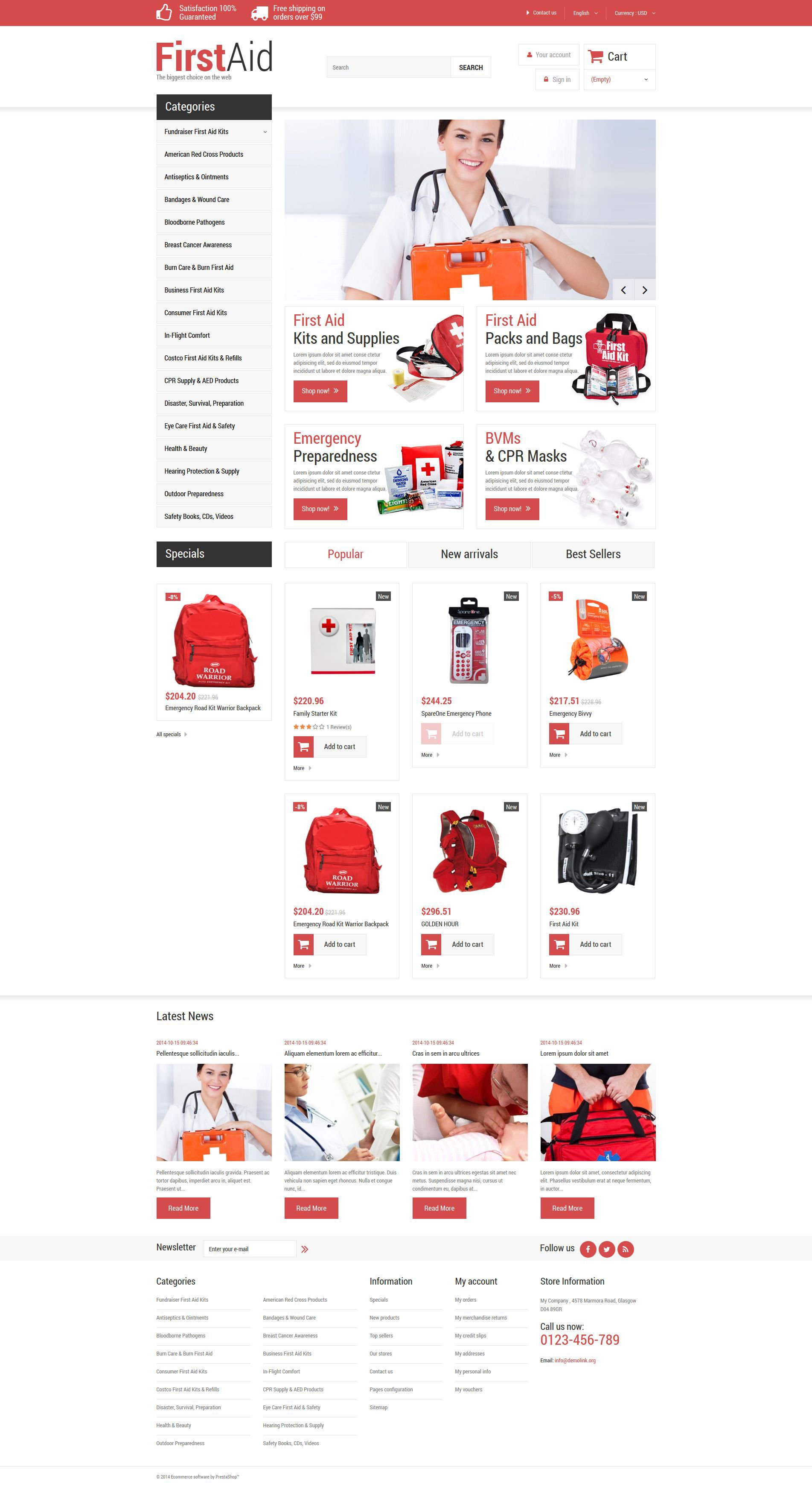 First aid store prestashop theme 52057 first aid store prestashop theme yadclub Choice Image