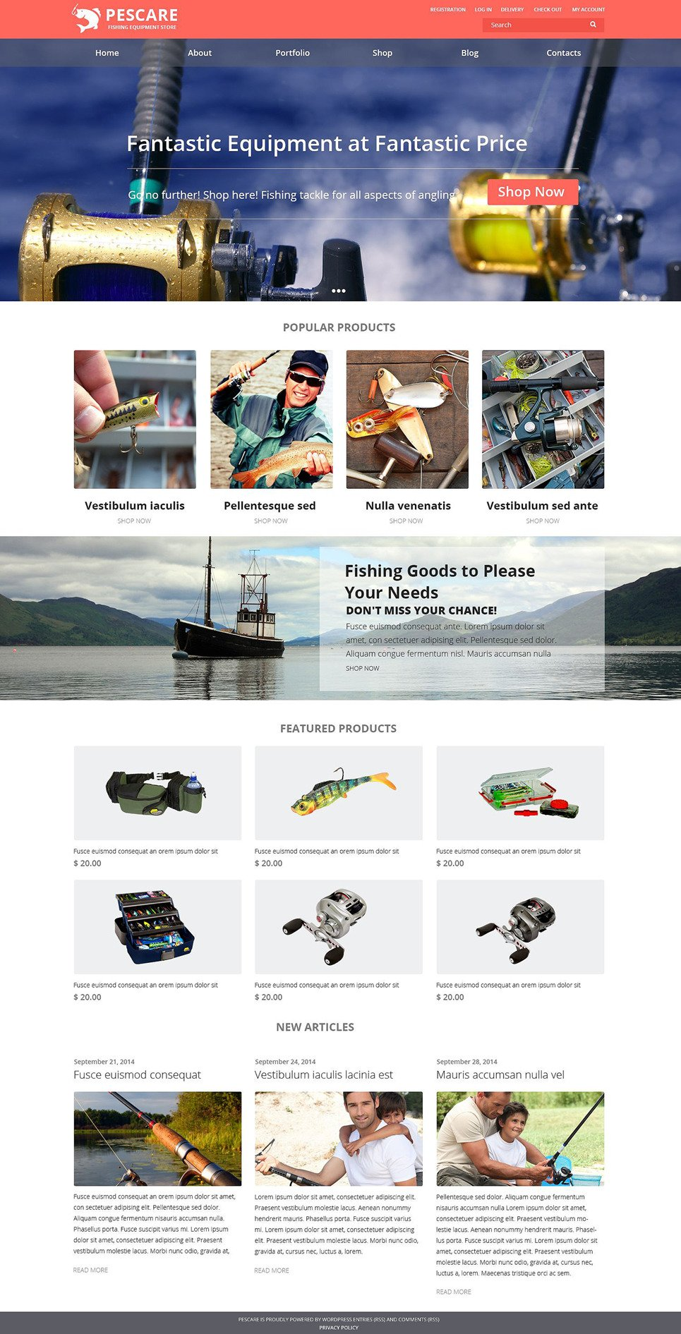 Fishing Gear WooCommerce Theme New Screenshots BIG