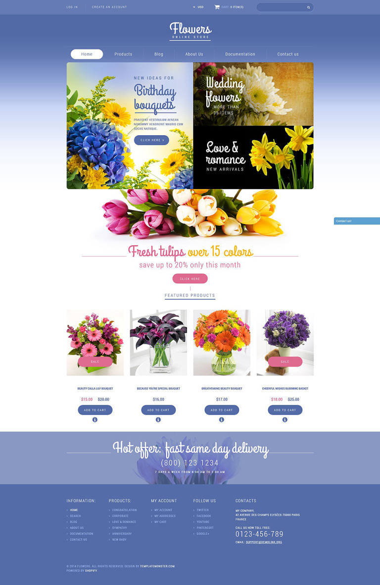 Flowers Store Shopify Theme New Screenshots BIG