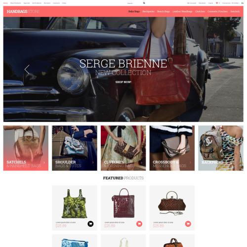 Handbags Store - HTML5 ZenCart Template