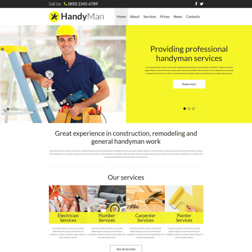 Handyman  - Joomla! Template based on Bootstrap