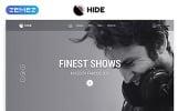 """HIDE - Online Radio Multipage Creative HTML"" modèle web adaptatif"