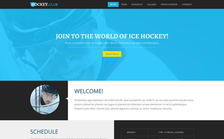 Hockey Responsive Joomla Template