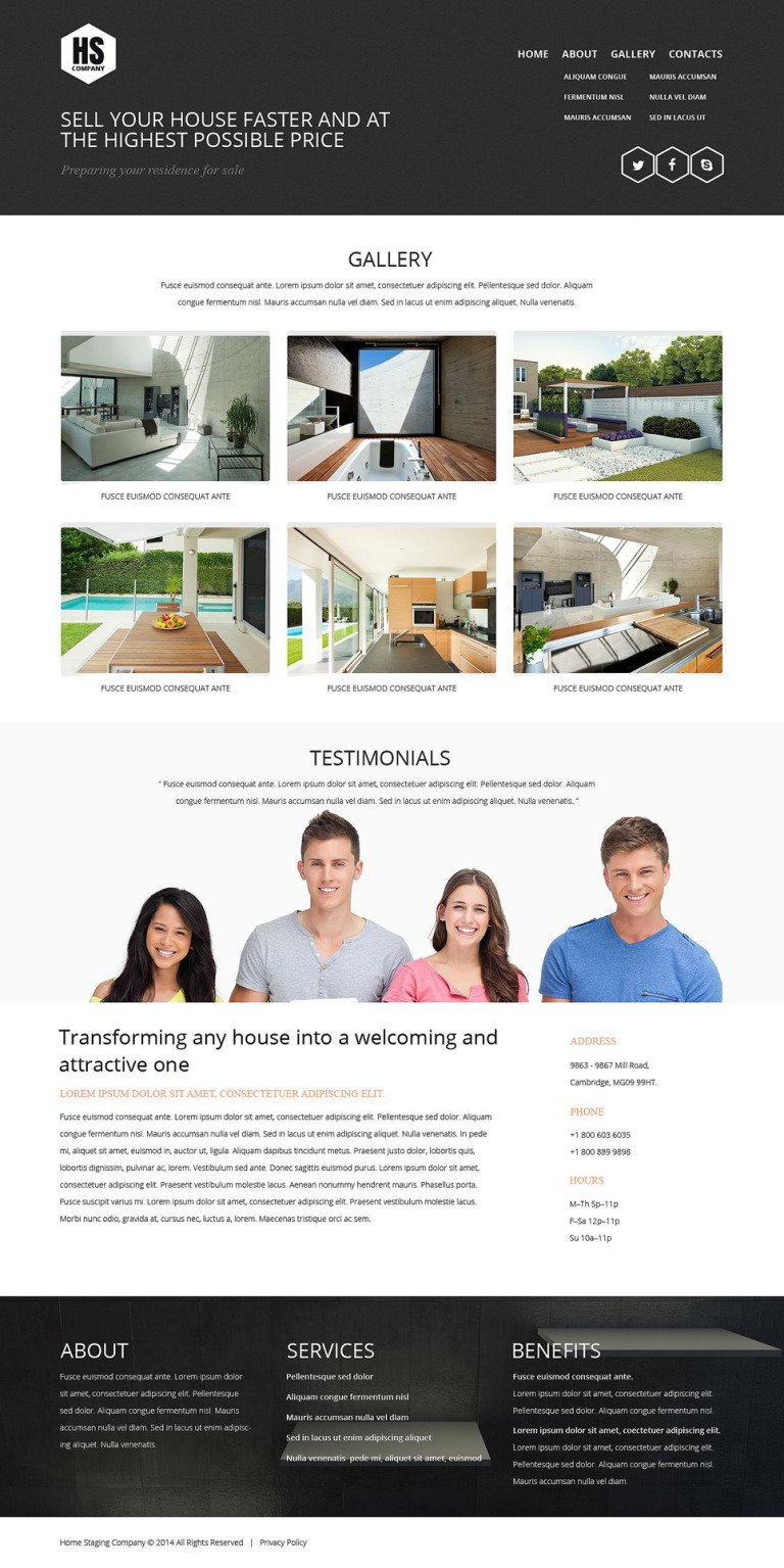 Home Staging Responsive Website Template New Screenshots BIG