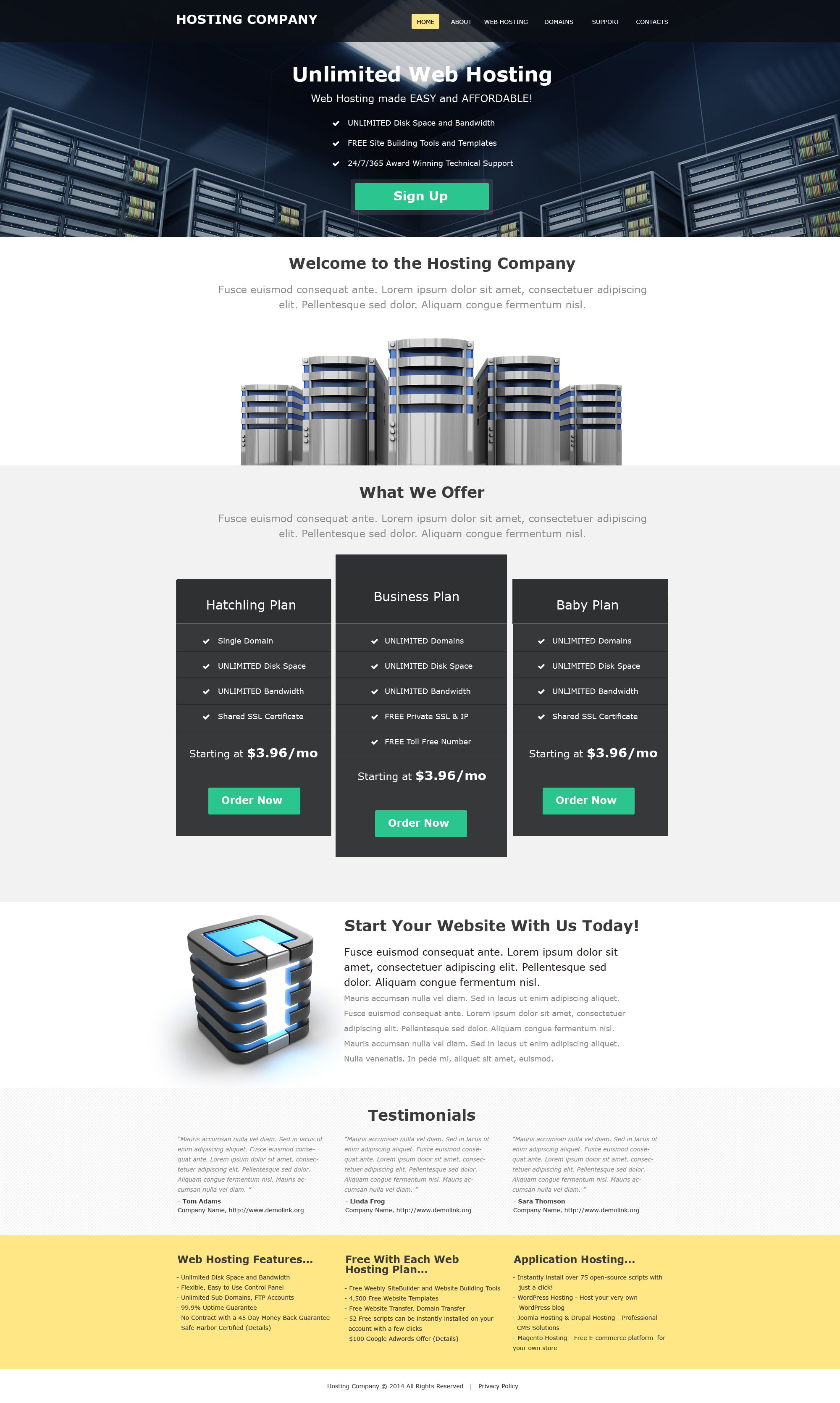 Hosting Muse Template #52011