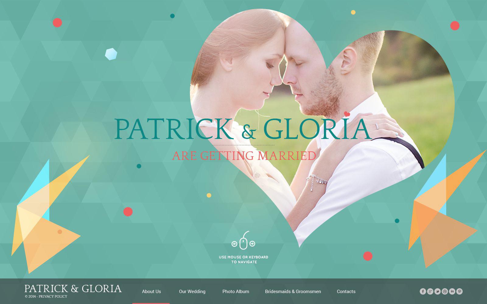 HTML шаблон №52073 на тему свадебный альбом