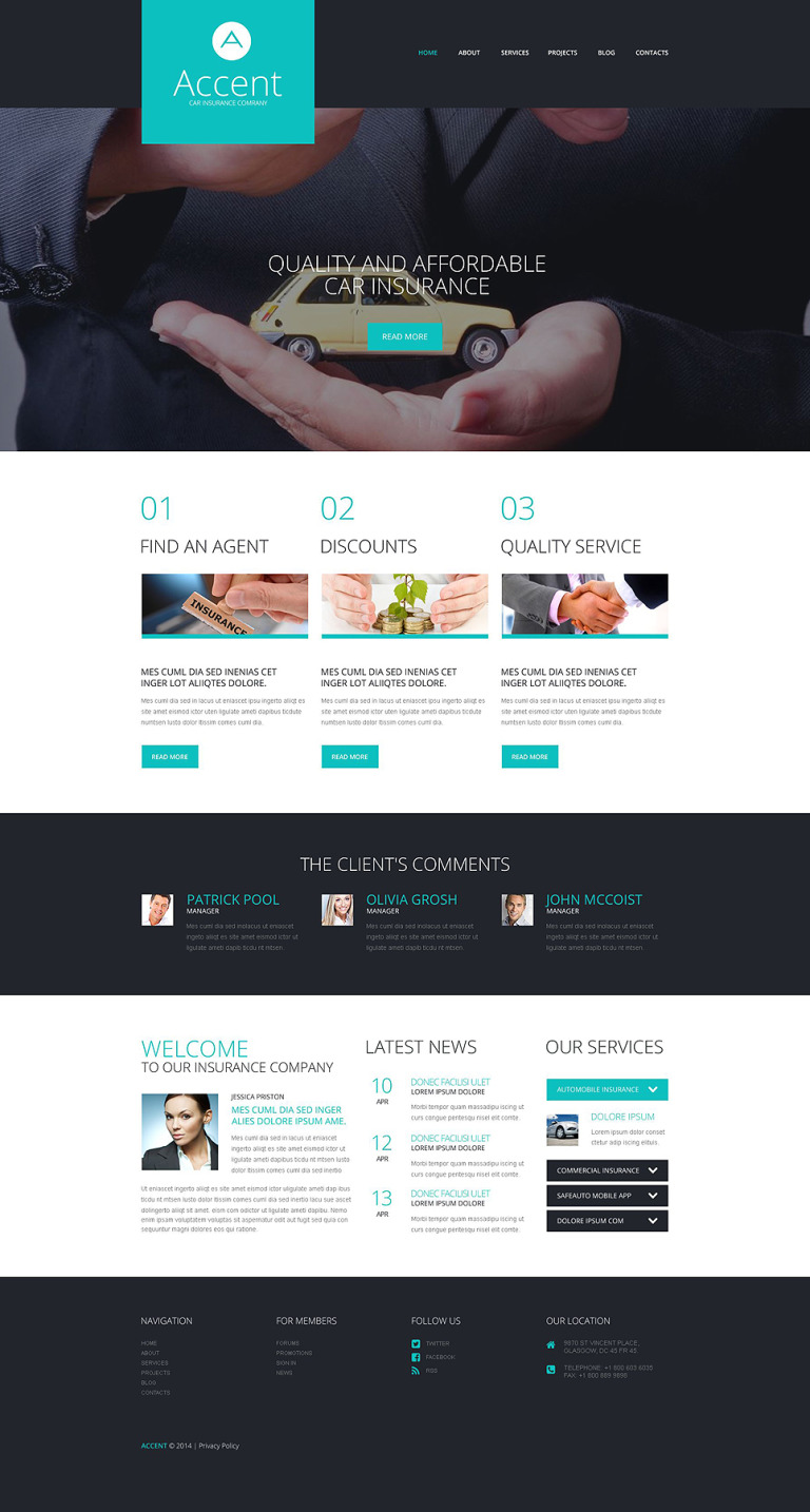 Insurance Responsive WordPress Theme New Screenshots BIG