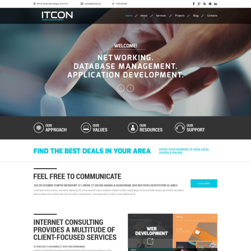 Itcon - Responsive Website Template